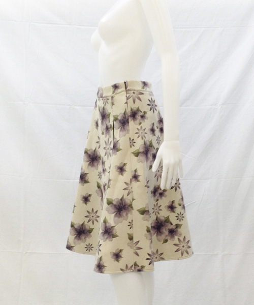 90196S-P Floral SUEDE Skirt 写真