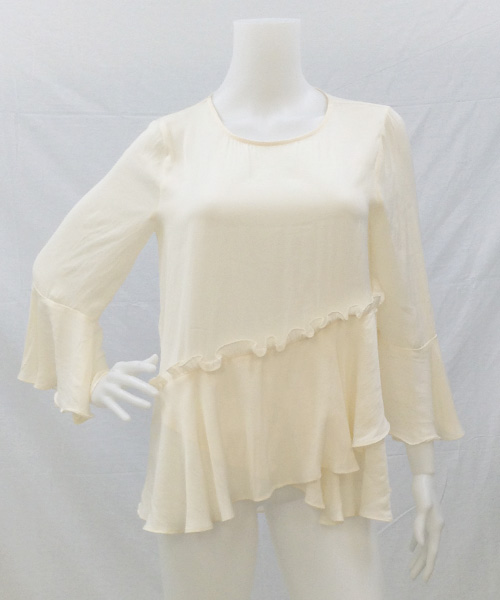 FRILL WIDE SIL BLOUSE 写真