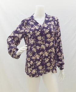 Violet + Claire V NECK FLOWER BLOUSE 写真
