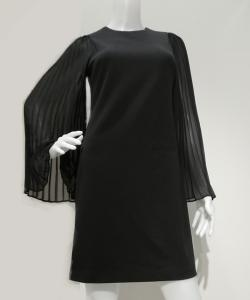 Calvin Klein ワンピース CD7C19FB Pleated Sheer Sleeve 写真